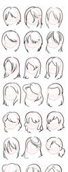 Hairstyles- Straight by ThirdPotato