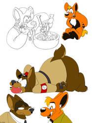 Fat Furry Doodlies by ThirdPotato