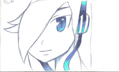 Blue Headphones by DecoAzuria