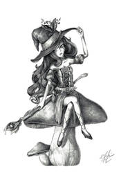 Mushroom Witch by Oxide23