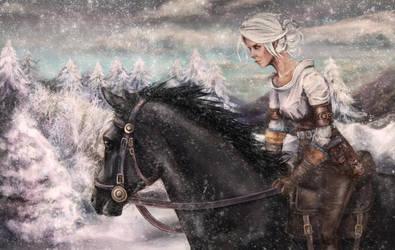 The Witcher - Ciri by Isminne