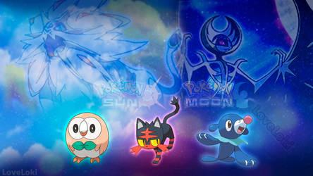 Pokemon Sun and Moon Wallpaper by LoveLoki