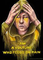 //A VULTURE WHO FEEDS ON PAIN// by johannaUNICORN