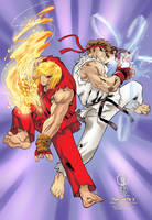 KEN AND RYU by ts3