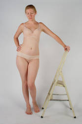 Body Reference - Standing - Resting on Ladder by Danika-Stock