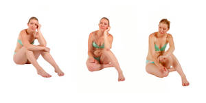 Body Reference - Sitting - Triplet Stock Pack by Danika-Stock