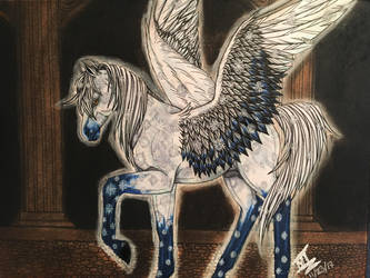 Seiza the Pegasus by roxasroxs