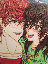 Seven(MysticMessenger) and daughter Clytie by roxasroxs