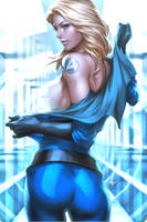 Invisible Woman Repaint by CyberGal2013
