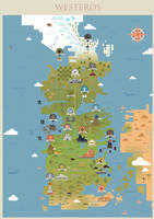 Game of Thrones - Westeros map by sanjota