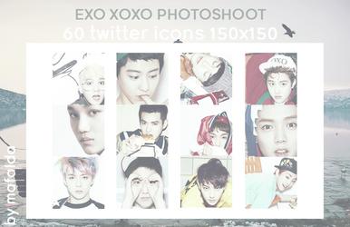 EXO | 60 TWITTER ICONS PACK 01_XOXO PHOTOSHOOT by iamsobizarre