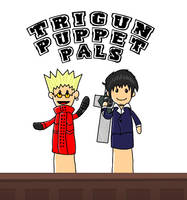 Trigun Puppet Pals by katiewhy