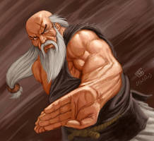Gouken fan art by julientainmont