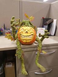 gremlin no carve pumpkin contest winner  by MONKEYkingDESIGNS