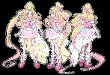 Cure Tomorrow Profile (HUGtto PreCure Render) by FFPreCureSpain