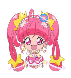 Chibi Cure Star [Star Twinkle PreCure Render] by FFPreCureSpain