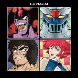 Go Nagai tribute by OzzKrol