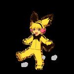 Pokemon Gijinka - Winter Pichu by Laeshin