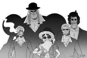 Bearded Mafia Strawhats by aubs-nin