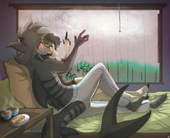 Tonight in the rain by 4myXD