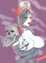 Demonic nurse by TentacleMonsterChu