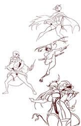 Random doodles by TentacleMonsterChu