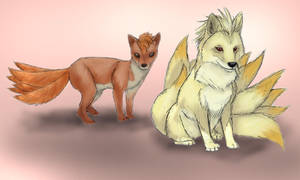037 Vulpix and 038 Ninetails by RtRadke