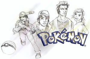 Ash, Brock and Misty by RtRadke