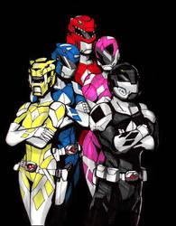Mighty Morphin Power Rangers by RtRadke