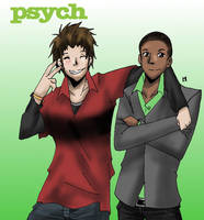Psych: Shawn and Guster +gift+ by Metalbeast114