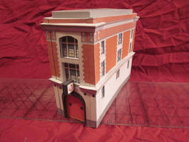 Papercraft ghostbusters firehouse by enc86