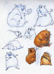 hamster Jolly Roger sketch by ines-ka