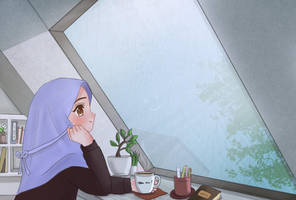 Watching The Rain by nisageijutsu