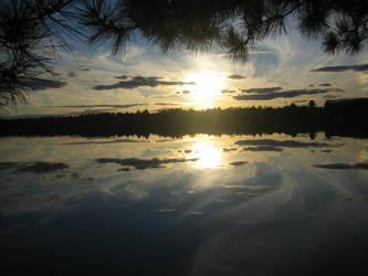 Cedar Lake Sunset by WingDiamond