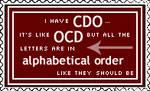 OCD Stamp by AcidaliaAdrasteia