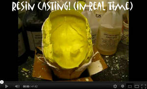 resin blank casting in real time video by Crystumes