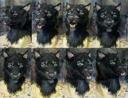 Black werewolf mask by Crystumes