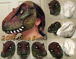 2016 Dino mask blanks CLOSED by Crystumes