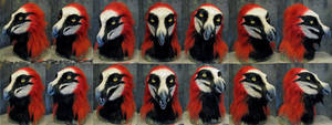 Bearded vulture werewolf mask by Crystumes