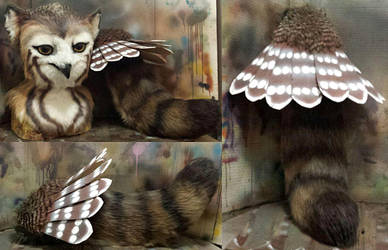 Strix owl gryphon tail by Crystumes