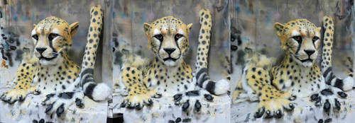 Cheetah partial commission by Crystumes