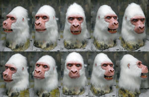 Albino Gorilla mask for sale by Crystumes