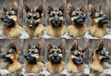 German Shepherd mask by Crystumes