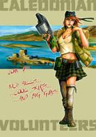 Caledonian Volunteers Poster by FStitz