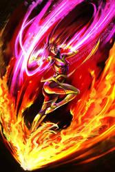 Dark Phoenix Commission by TheOneWithBear
