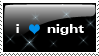I love night stamp by coolmaggi by SonicGal390