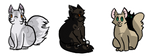 Two-Faced stickers set 1 by Deercliff