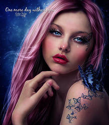One more day without you by EstherPuche-Art