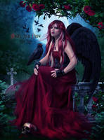 Angel and Crow (Commission) by EstherPuche-Art