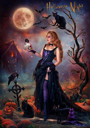 Halloween Night by EstherPuche-Art